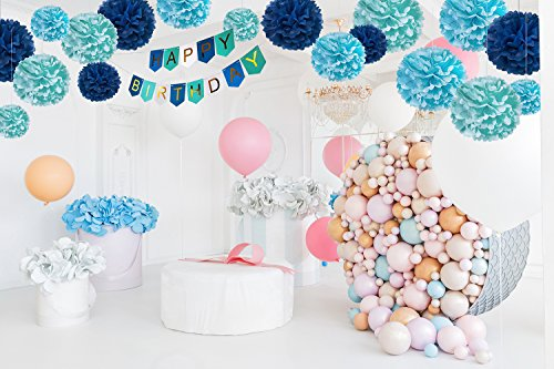 DIY Blue Birthday Decorations