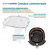 Air Fryer Stainless Steel Rack Accessory Compatible With Costway 19 QT, Aaobosi 21 QT, Caynel 12.5 quarts, Paula Deen 9.5 QT, Zokop 16.91 QT, Dash Chef + More | Airfryer Accessories Set