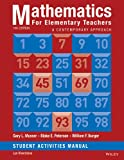 img - for Mathematics for Elementary Teachers: A Contemporary Approach 10e Student Activity Manual book / textbook / text book