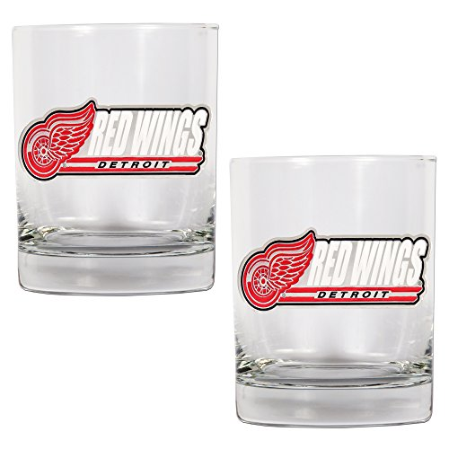 NHL Detroit Red Wings Two Piece Rocks Glass Set
