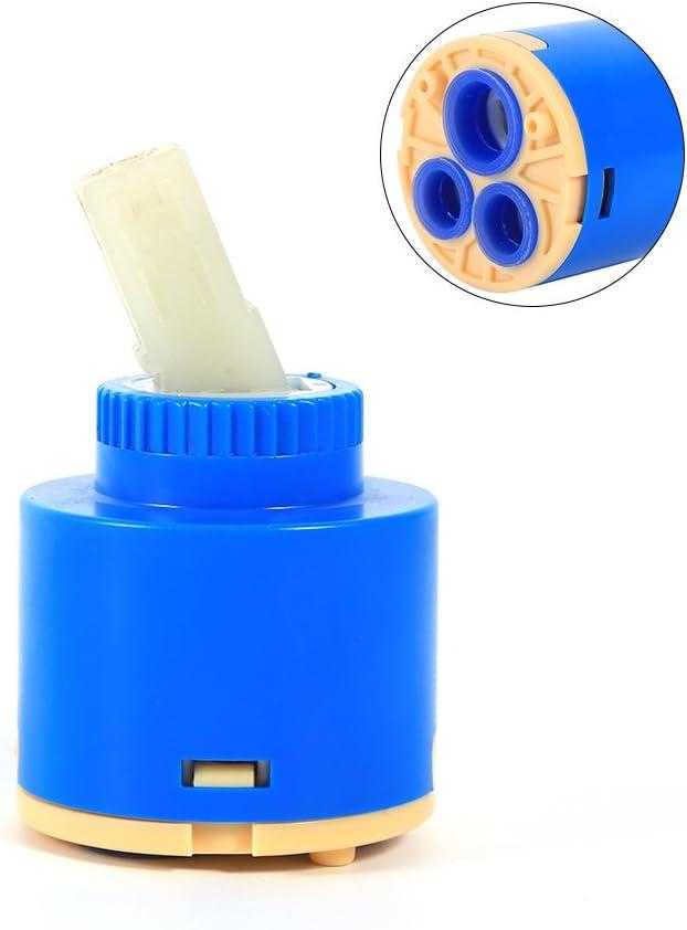 idalinya 35//40 Mm Cartucho De Disco De Cer/áMica Mezclador De Agua Grifo V/áLvula De Grifo De Control Interno PP Pl/áStico Azul Pr/áCtico 35mm
