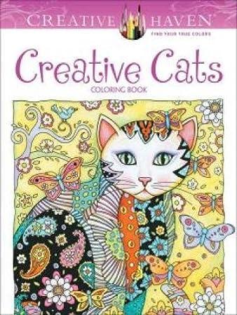 Amazon.com: Creative Haven Creative Cats Coloring Book (Adult ...