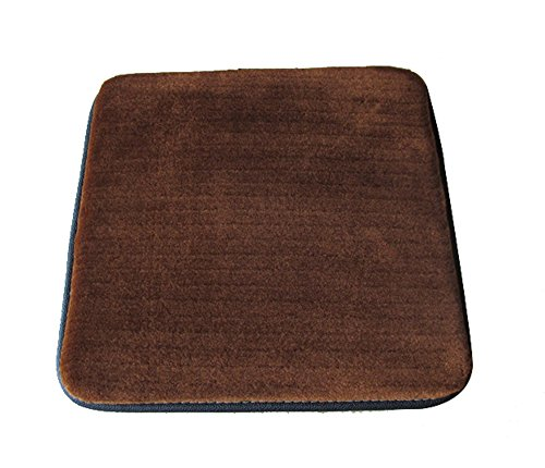 Sigmat Plush Square Seat Cushion for Bar Stool or Chair Pad with Buckle Brown 12
