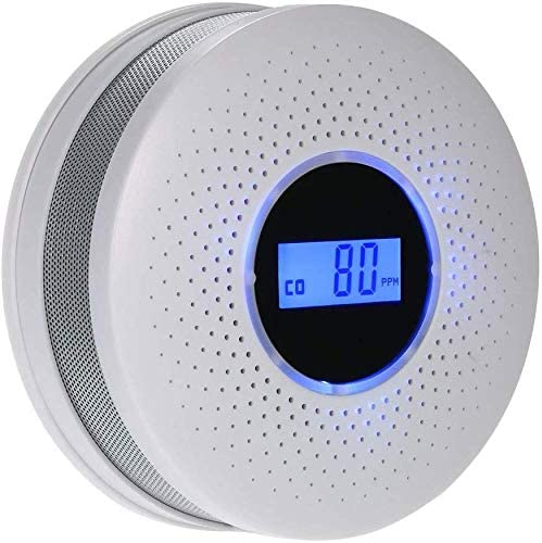 Multi-function Alarm with LCD Display For Detecting Carbon Monoxide and Smoke Alarms with LED Light Flashing Sound Warning for Home Safety Dufeng