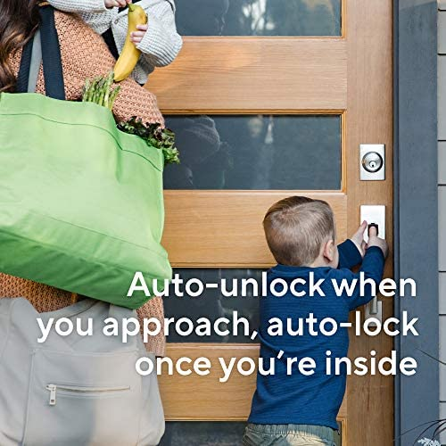 Wyze Lock WiFi and Bluetooth Enabled Smart Door Lock, Wireless & Keyless Door Entry, Hands-Free Voice Control, Home Security Compatible with Amazon Alexa, Fits on Most Deadbolts, Includes Wyze Gateway 51ArO5vyIJL