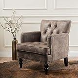 Medford Greyish Brown Microfiber Club Chair