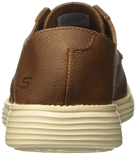 Mocassini Uomo Status Lerado Marrone Brown Skechers wFgqHxEgY