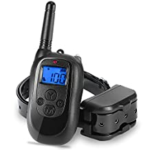 ALTMAN Trainning Collar Rechargeable and Waterproof 330yd with Beep/Vibration/Shock Electric Collar(10Lbs-110Lbs)
