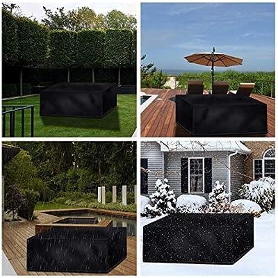 Funda Protectora para Muebles de Jardín, Funda Protectora Muebles Jardin Impermeable Color Negro Tela Oxford 420d Fundas para Muebles de Jardin, con Bolsa de Almacenamiento (Size : 120x120x74cm): Amazon.es: Hogar