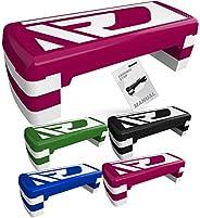 RDX Aerobic Step with 3 Adjustable Height Level Exercise, 10cm 15cm 20cm Steps Riser Platform, Anti-Slip Stepp