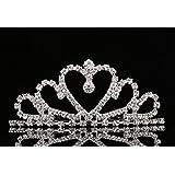 Lovely Shop Lovelyshop Mini Heart Rhinestone Tiara for Wedding Bride Prom Birthday Pegeant Prinecess Party