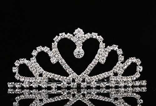 Lovelyshop Mini Heart Rhinestone Tiara for Wedding