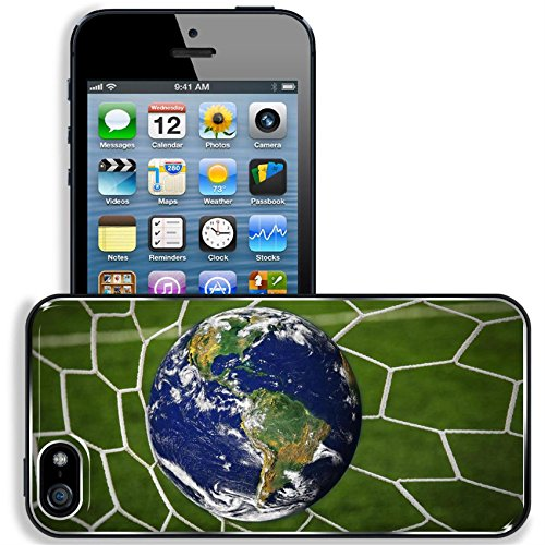 Liili Apple Iphone 5 Iphone 5S Aluminum Backplate Bumper Snap Iphone5 5S Case Iphone6 Image Id  16215494 Earth Globe In Goal Net With Green Grass Field
