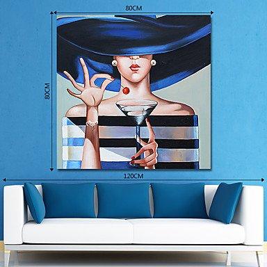 XHL XHL XHL Art Hang-lgemlde Handgemalte - Menschen Zeitgenssisch Modern Segeltuch, 24  x 24  B07F7VVL6T | Ruf zuerst  2aa5d1