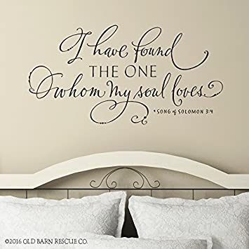 I Have Found The One Whom My Soul Loves Wall Decal Song Of Solomon