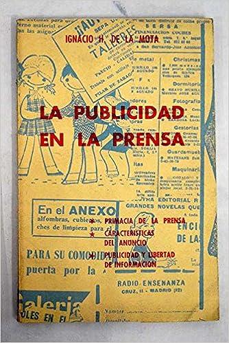 La publicidad en la prensa Paperback – 1963