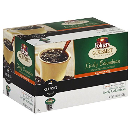 Folgers Gourmet Selections K-Cups Coffee, Decaf Lively Colombian for Keurig Brewing Systems (96 K-Cups)