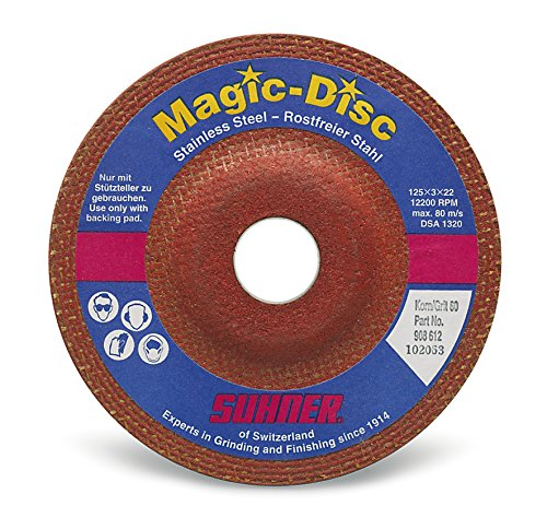Suhner 909714 Magic Disc Premium Ceramic Grinding Wheel, 6'' x 1/4'' x 7/8'' (Pack of 10) by Suhner