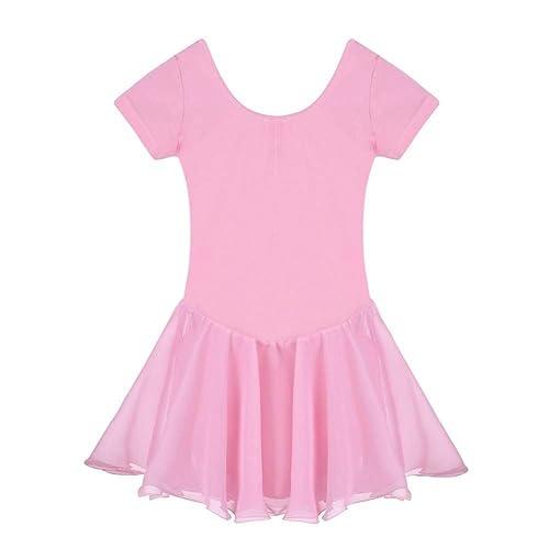 Arshiner Girls Short Sleeve Dance Leotard Ballet Dress