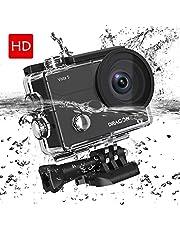Caméra Sport Étanche 131fts Dragon Touch Vista5 4K Ultra HD Action Caméra WiFi avec Écran Tactile,Appareil Photo avec Telecommande 170° Grand-Angle,2 Batteries Rechargeables,Kit d'Accessoires