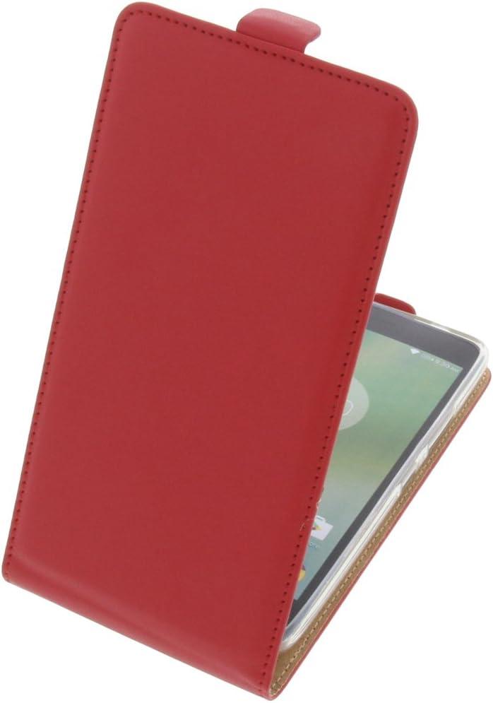 Funda para Lenovo K6 Note Protectora Tipo Flip para móvil roja: Amazon.es: Electrónica