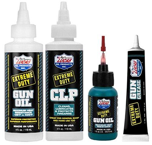 Lucas Extreme Duty 4oz Gun Oil 10877, 4oz CLP 10915, 1oz Nee