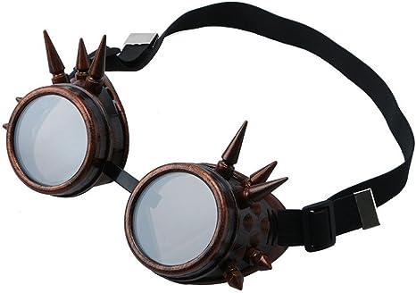 Ultra Steampunk Occhiali Cyber Vittoriani Punk Cosplay Gotico Bicchieri Rotondi