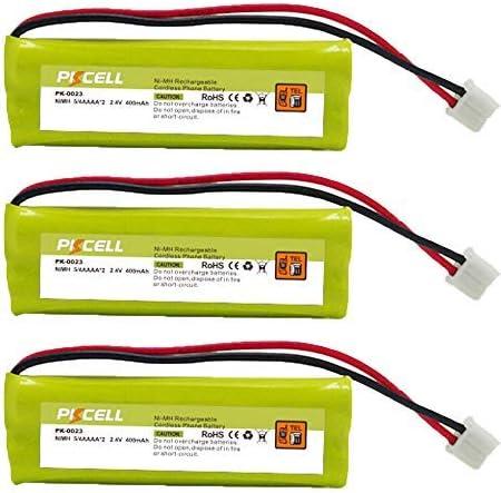Paquete de 3 baterías BT-1008 BT-1021 BT-1025 BT-1016 Dect 6 WITH43-269 inalámbrico