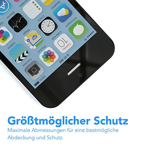 Apple iPhone 5C Schutzhülle und Glasfolie als Set, EAZY CASE Schutzglas aus gehärtetem Echtglas Panzerglas 9H 0,3mm Displayschutz (mit 3D Touch) Screen Protector