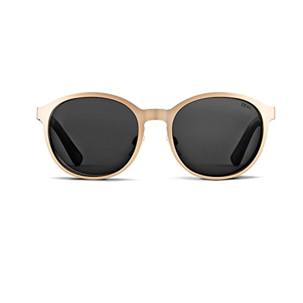 Zeal Optics Unisex 6th Street Polarized Rose Gold/Dark Grey Polarized Lens Sunglasses by Zeal (Image #1)