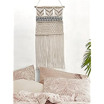 RawyalCrafts Handmade Macrame Wall Hanging- Woven Wall Art- Macrame Tapestry-Boho Wall Decor- Textile Wall Hanging - 36