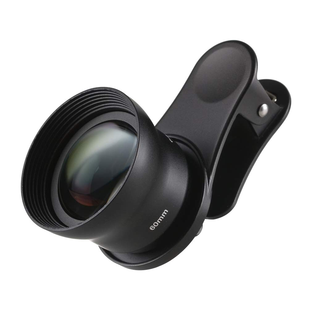 Sirui 60-Sa Portrait Lens 60mm with Clip, Constructed with German Schott Glass and Aluminum Housing, for Most Smartphones by Sirui