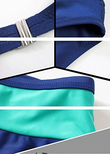Traje de baño de bikini dividido azul de moda Azul