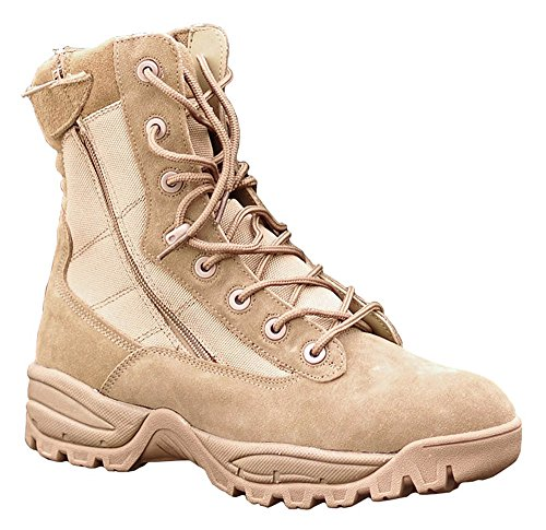 Mil two tec taille zip coyote uS 13 tactical bottines wttqr6O