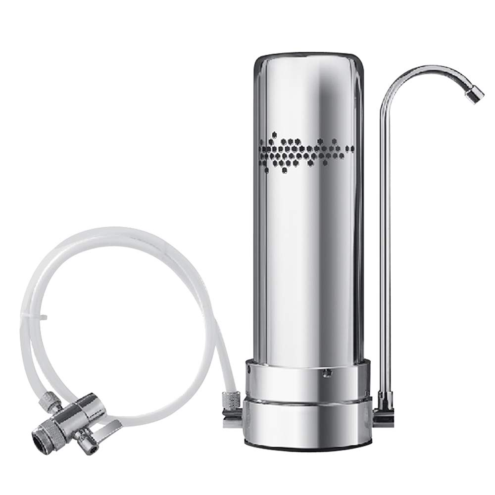 蛇口水フィルターステンレス鋼のカウンタートップの蛇口、ろ過システムは鉛及び塩素の台所の飲料水を減らす   B07NNF38VR