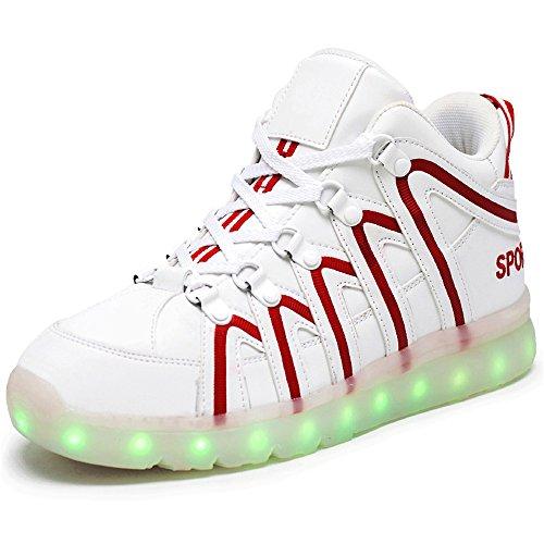 ふざけた麺調停する発光シューズ スニーカー 男女通用 USB充電スニーカー ハイカット 光る靴 スポーツシューズ LEDシューズ 光るシューズ LED靴 レディース メンズ   ダンス
