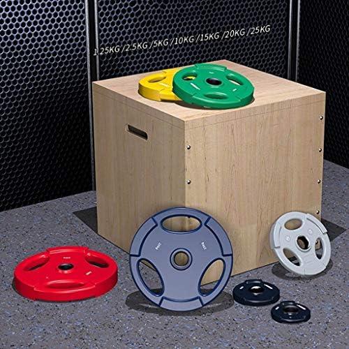 バーベルプレート筋力トレーニンプレートグ 2枚のプレートのセットホームジムフィットネスリフティングエクササイズワークアウトフラクショナルオリンピックプレート用バーベルダンベルプレートラバー重量プレート バーベル プレート