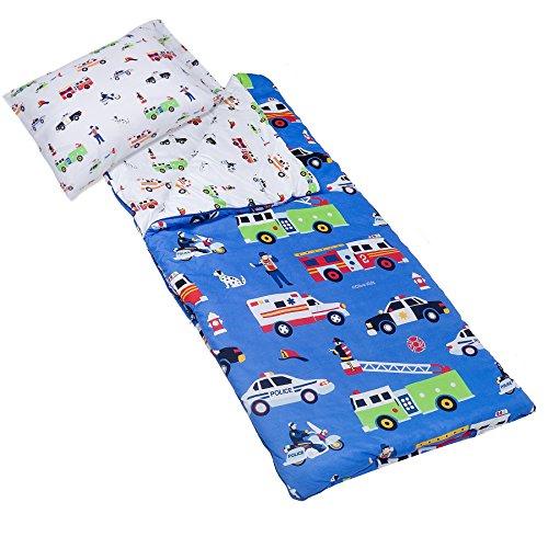 Microfiber Sleeping Bag, Olive Kids by Wildkin Children's Microfiber Sleeping Bag with Matching Pillowcase and Storage Bag, Microfiber, Children Ages 5+ years – Heroes by Wildkin