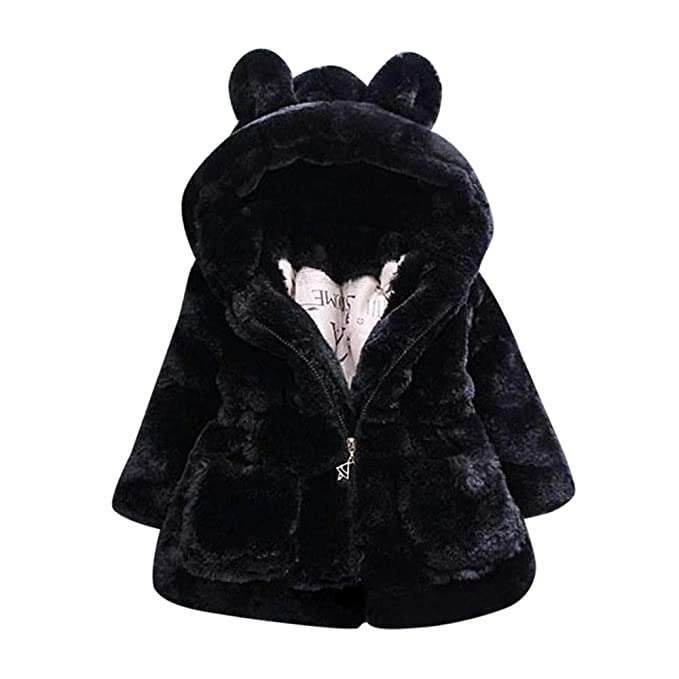 a43debbad Amazon.com  Clearance Kids Baby Girl Winter Hooded Coat Cloak Jacket ...