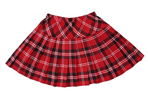 Girl British School - British Sweet ladies Dress School Girl Junior Long Pleated Plaid Skirt CC205E-XL