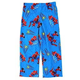 Spider-Man Boys Blue Poly Pajama Pants (XL (10/12))