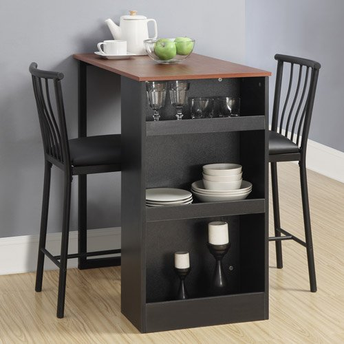 Charmant Amazon.com   Isla 3 Piece Counter Height Dining Set With Storage, Espresso    Table U0026 Chair Sets