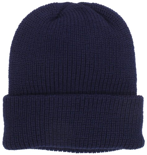 Chaos Men's Gamma Bulky Knit Wool Blend Watch Cap (Navy, One Size)
