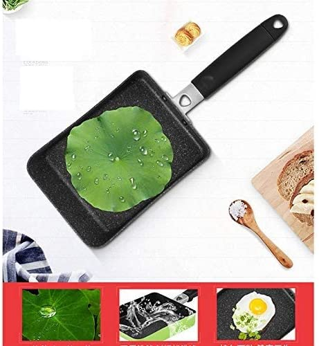 INTER FAST Poêle à omelette avec revêtement anti-adhésif - Mini poêle rectangulaire