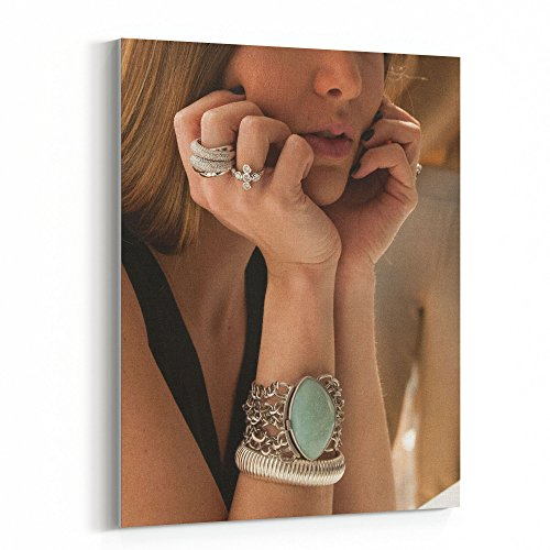 Westlake Art - Jewelry Ring - 30x40 Canvas Print Wall Art - Canvas Stretched Gallery Wrap Modern Picture Photography Artwork - Ready to Hang 30x40 (Silver Gallery Turquoise Bracelet)