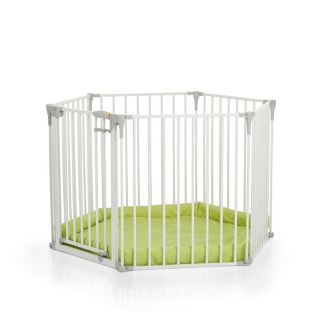 Hauck Babypark, 6 Sided Playpen with Playmat, White (Fireguard, Room Divide) H-59704