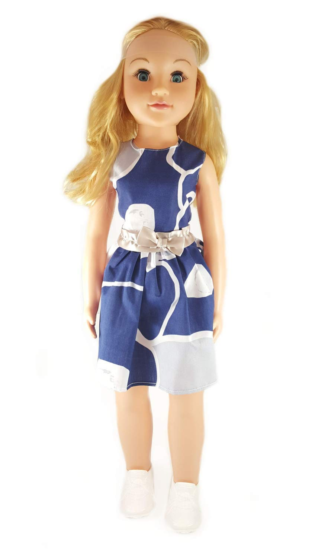 27 Lifesize Wispy Walker Doll Blue-Gray Uneeda Realistic Cute Walking Baby Toddler Doll
