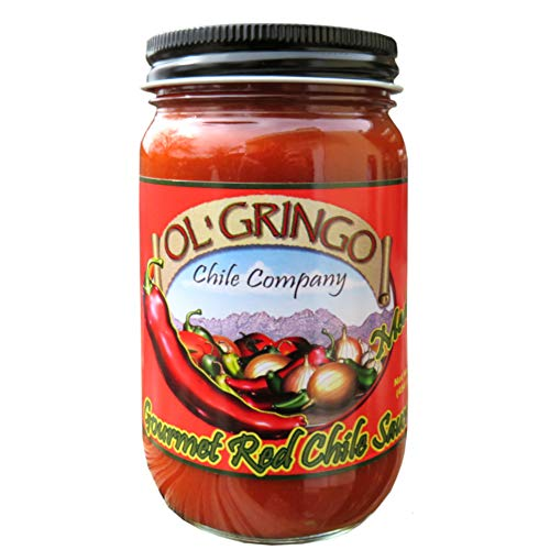 Hatch Valley New Mexico Red Chile by Ol' Gringo MEDIUM (16oz) |Low Sugar (1g) Low Carb (3g) Trans Fat Free | Vegan & ()