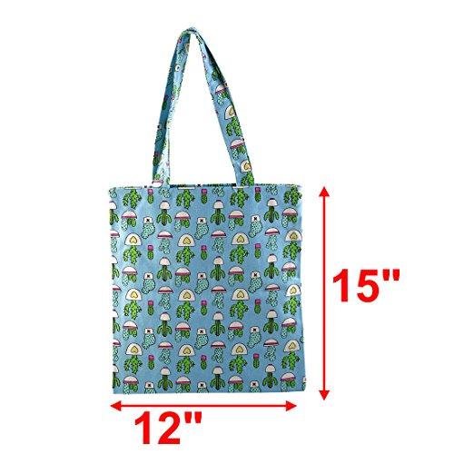 map Libre Hombro Bolso De Picnic Cactus Camping De Mano De Compras Aire Azul Paquete Al sourcing Bolso dxfz1Ynd