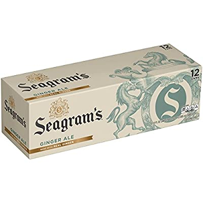 Seagram's Ginger Ale Fridge Pack Cans, 12 fl oz (Pack of 12) by Coca-Cola